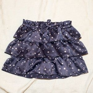 Baby Gap Layered Navy Skirt with Stars Size 3T